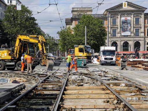 Projekt modernizacji torowiska tramwajowego w Łodzi